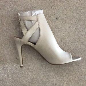 Brand New Cream Ankle Tie Heels